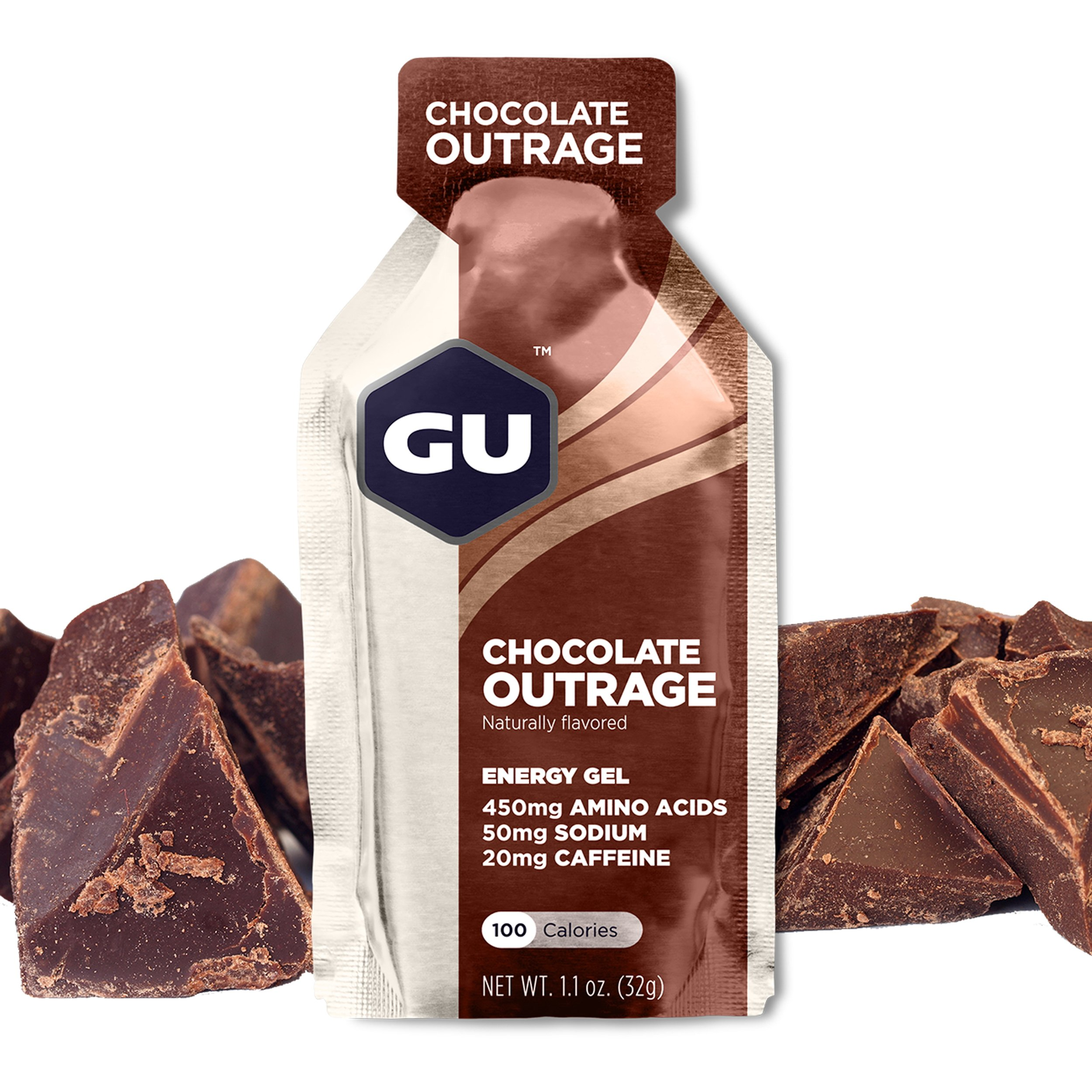 GU Energy Original Sports Nutrition Energy Gel, Chocolate Outrage, 24-Count