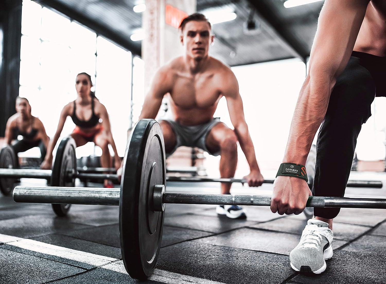 Gepolsterte Greifhilfen Langhantel Fitness Gym Kraftsport Frauen M/änner Set Zugb/änder Handgelenk Latzughilfe Zughilfen Profi Weight Lifting Straps f/ür Krafttraining Bodybuilding Gewichtheben