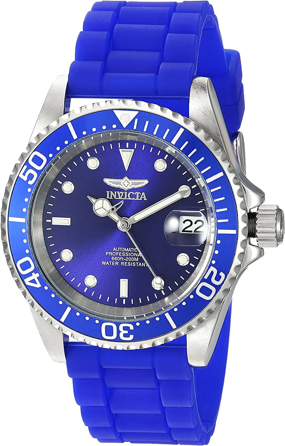 Invicta Men s Pro Diver Stainless Steel Automatic-self-Wind Diving Watch with Silicone Strap, Blue, 20 Model 23679