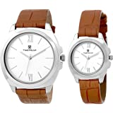 TIMEWEAR Formal Collection for Couple Analog White Dial Women's & Men's Watch