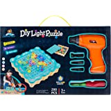 Summerease Design and Drill Activity Center Light Box Pretend Construction Play Box - Early Learning & Development Stem Toys for Girls Ages 3 Up