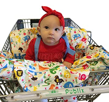 Baby Shopping Cart Cover & High Chair Cover, Comfortable & Safe with Adjustable Safety Straps