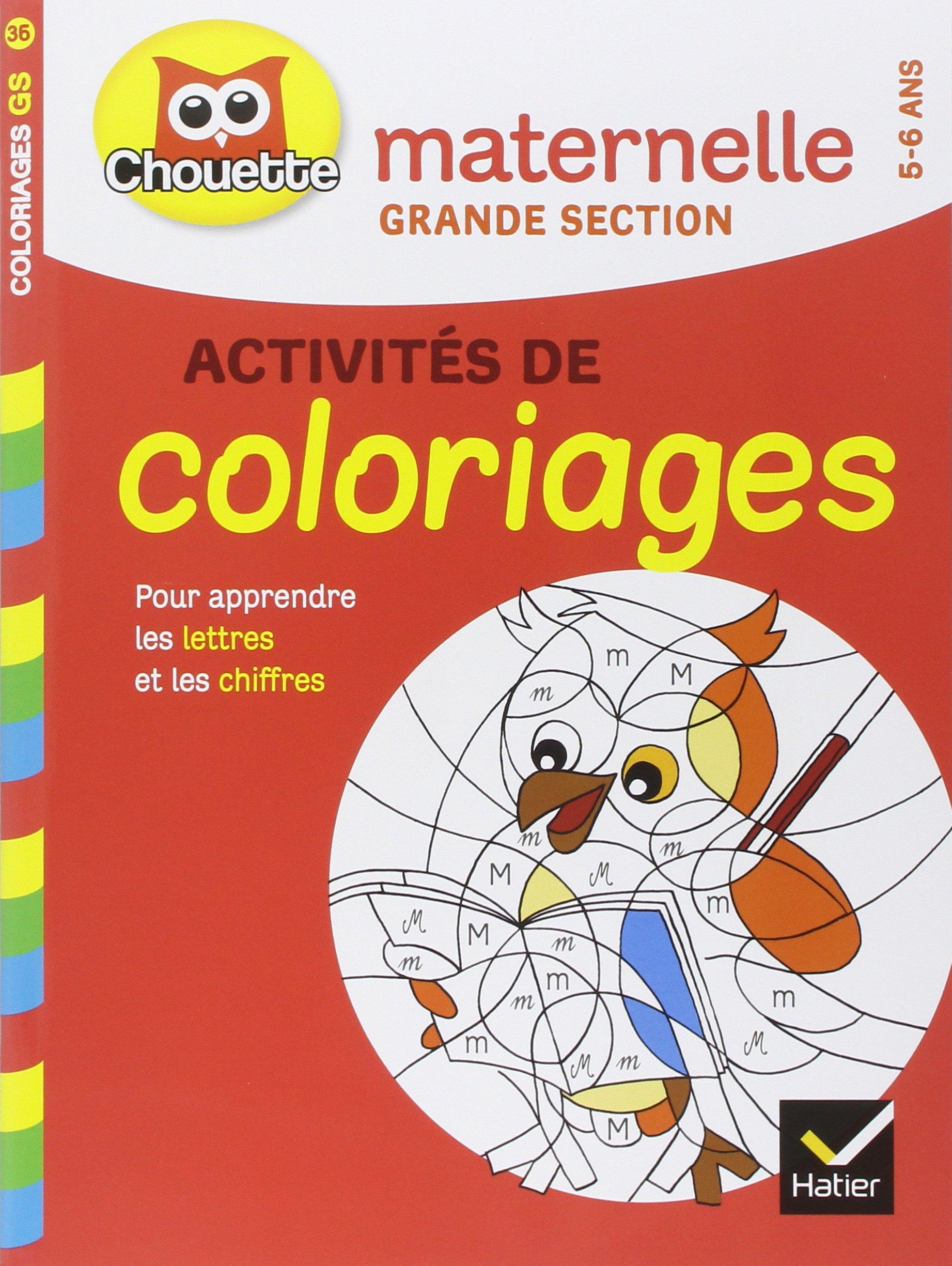Livres En Francais Chouette Maternelle Coloriages Grande