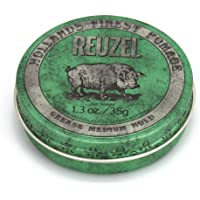 Reuzel - Green Grease Medium Hold Pomade For Men - Oil Based - Medium Shine - Style From Day To Night - Helps Retain…