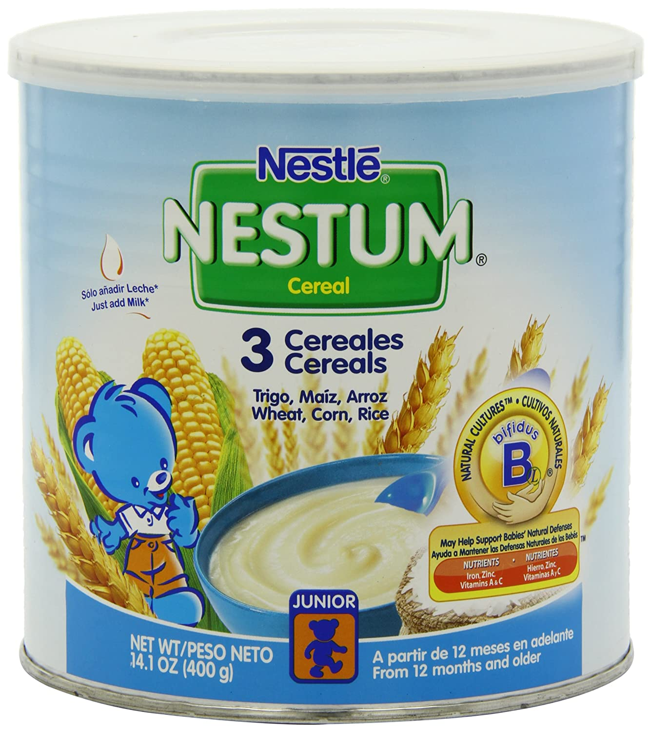 Nestle Nestum 3 Cereals, 14.1-Ounce (Pack of 6) Gerber Baby Cereal Nes-1185