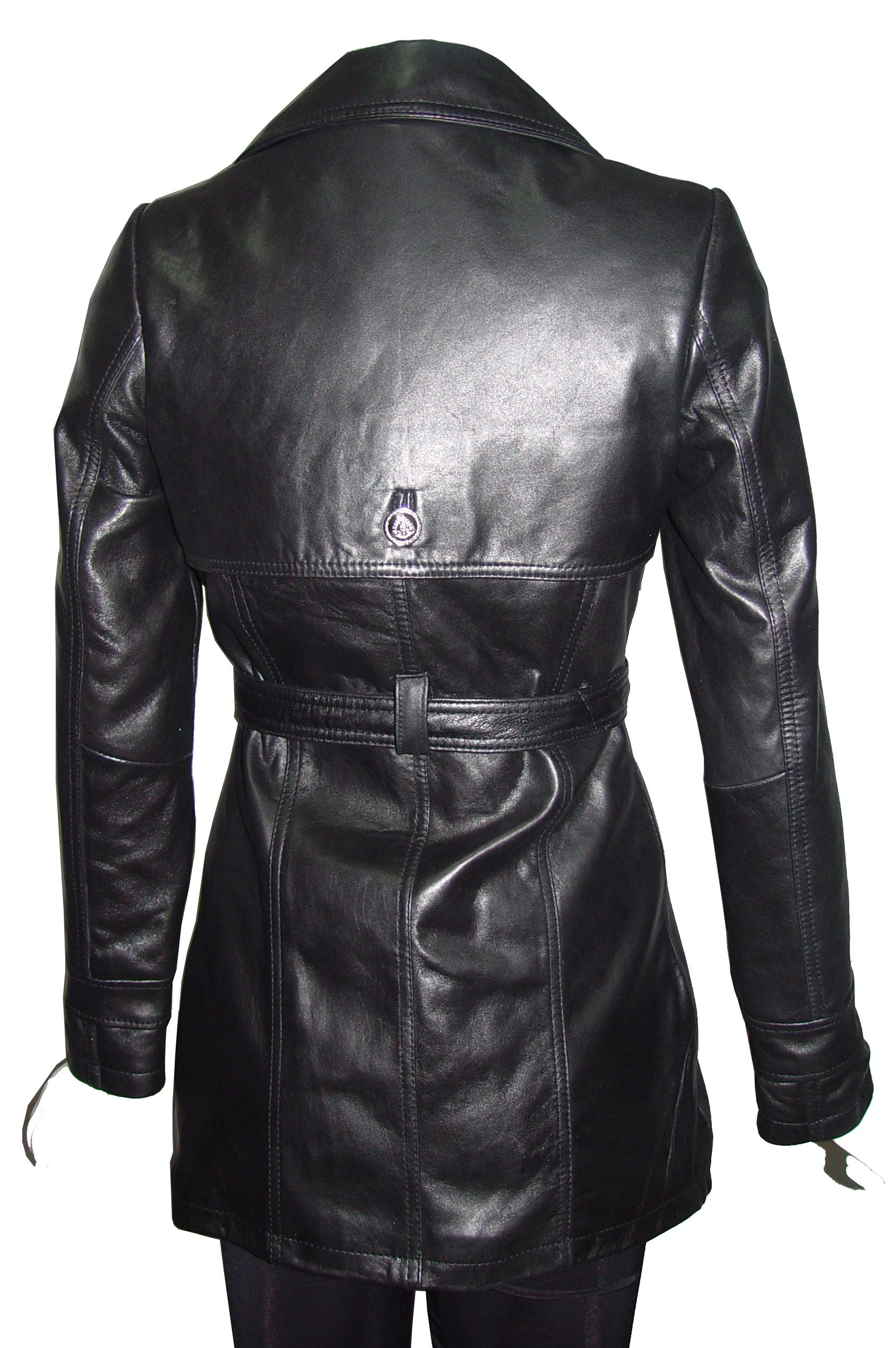 Nettailor PLUS & ALL SIZE 5022 Fine Fitted Clean Best Leather Coats Belt Women by NETTAILOR (Image #5)