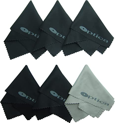 6x /& Gamuza de microfibra paño de limpieza de lente de cámara óptica Gafas Teléfono Tablet
