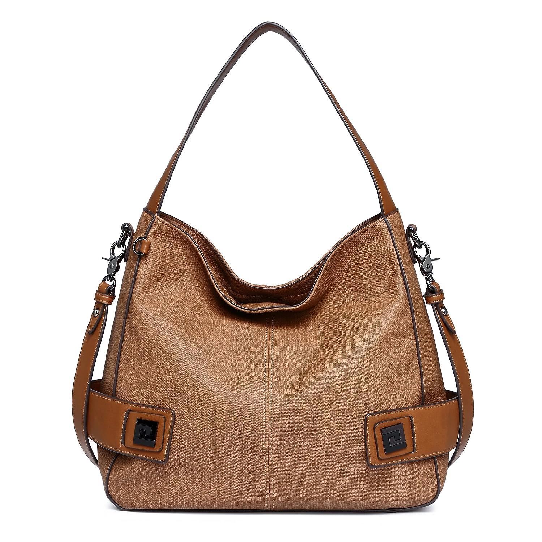 2b2290579e DDDH Big Sale- Women Leather Handbags Classic Purses Hobo Bags Vintage Shoulder  Crossbody Bags for Fall Winter Shop Work Meeting (Brown)