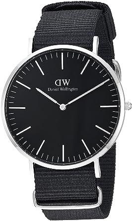 6b25a7addec7 Amazon.com  Daniel Wellington Classic Black Cornwall 40mm  Watches