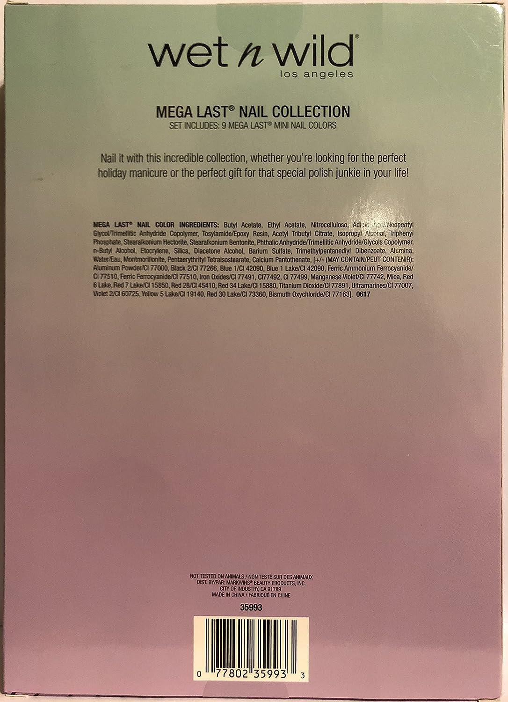 Wet N Wild Los Angeles Gift Set Mega Last Nail Color Megalast Salon Candylicious Collection Includes 9 Colors Net Wt 017 Fl Oz 5 Ml Each One