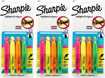Sharpie – Juego de rotuladores fluorescentes (Mini subrayadores, multicolor (20374) (1-Pack de 4): Amazon.es: Belleza