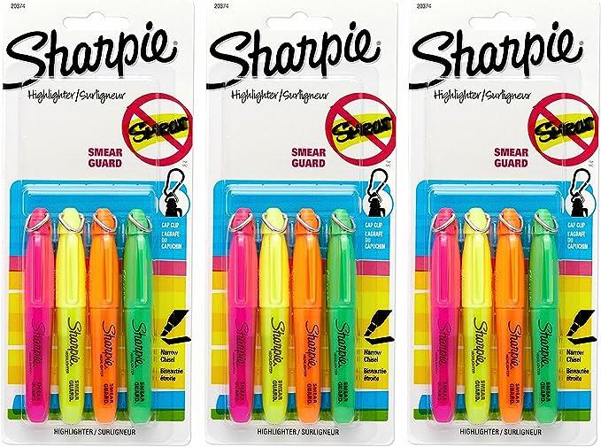 Sharpie – Juego de rotuladores fluorescentes (Mini subrayadores ...