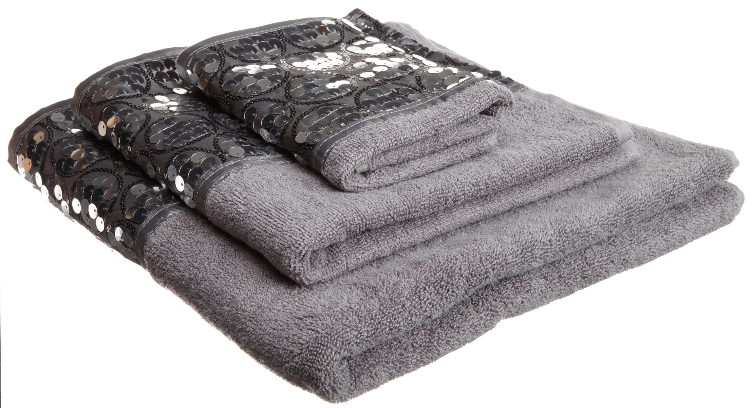 Popular Bath ''Sinatra Silver 3-Piece Towel Set
