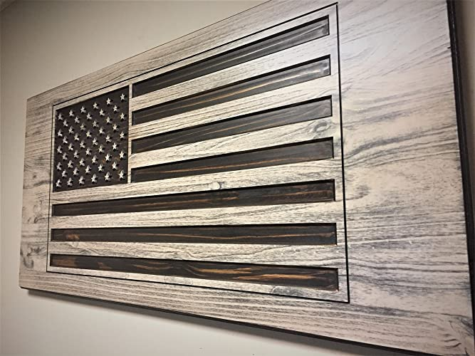 American Flag Wall Art, Wooden Flag, Wood Wall Art, Large US Flag Sign