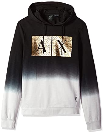 e70710b10aa03 Amazon.com: A|X Armani Exchange Men's Fading Logo Sweatshirt: Clothing