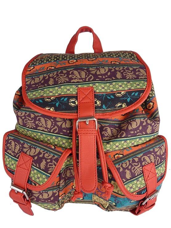 Casual Vintage Retro Rucksack, für Schule und Freizeit 7021