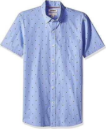 Marca Amazon - Goodthreads – Camisa dobby de manga corta de corte entallado para hombre: Amazon.es: Ropa y accesorios