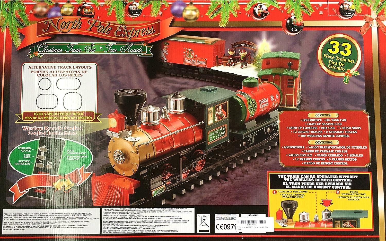 Amazon.com: EZTEC 37297 North Pole Express Christmas Train Set ...
