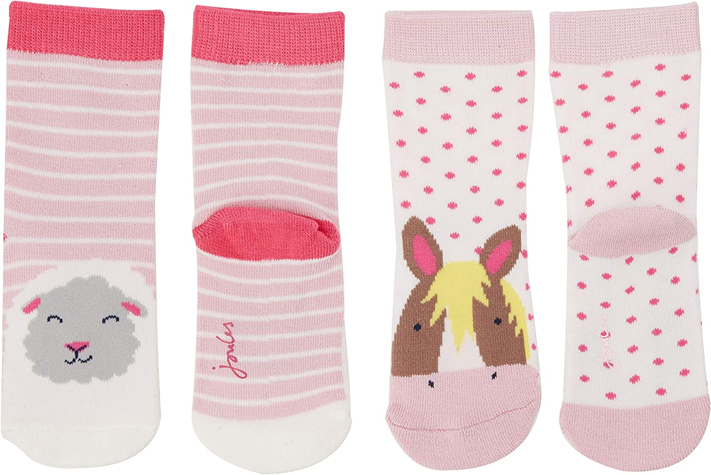 2er Pack Joules Baby-M/ädchen Neat Feet Socken,