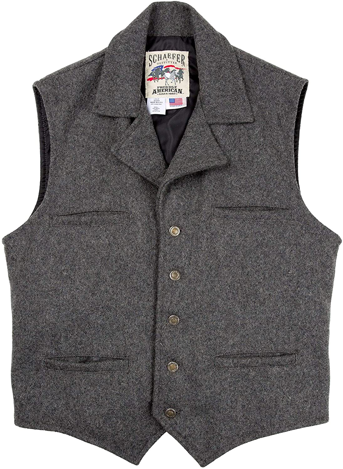 1920s Style Mens Vests Schaefer Outfitters Vest for Men Classic Fitted Ranchwear Wool Vest 805 Cattle Baron Vest $140.00 AT vintagedancer.com