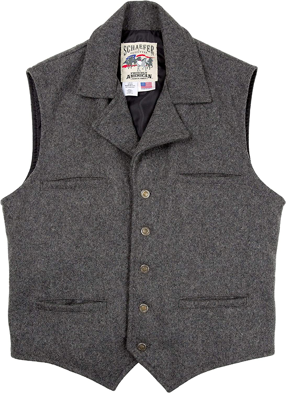 Victorian Men's Clothing, Fashion – 1840 to 1890s Schaefer Outfitters Vest for Men Classic Fitted Ranchwear Wool Vest 805 Cattle Baron Vest $140.00 AT vintagedancer.com