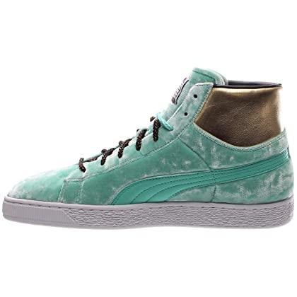 b728ed9b7c4 ... Puma Basket Mid X Dee Ricky Mens Green Textile High Top Sneakers Shoes  10 ...