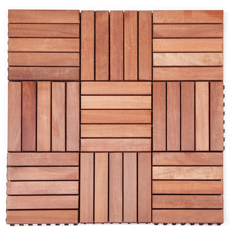 baldosas de madera massara Duba de biomaderas®, 30x 30cm, con sistema de clic