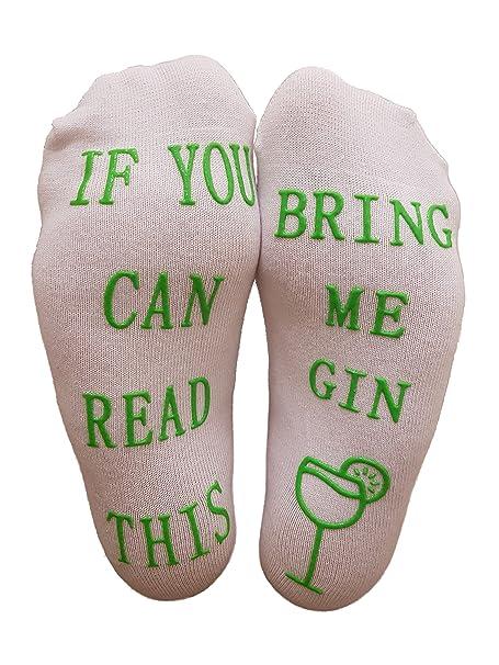 Miana Creations Calcetines de algodón de lujo con texto If You Can Read This Bring Me