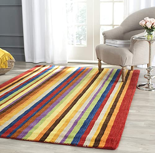Safavieh Himalaya Collection HIM582A Handmade Red and Multi Premium Wool Area Rug 8 x 10