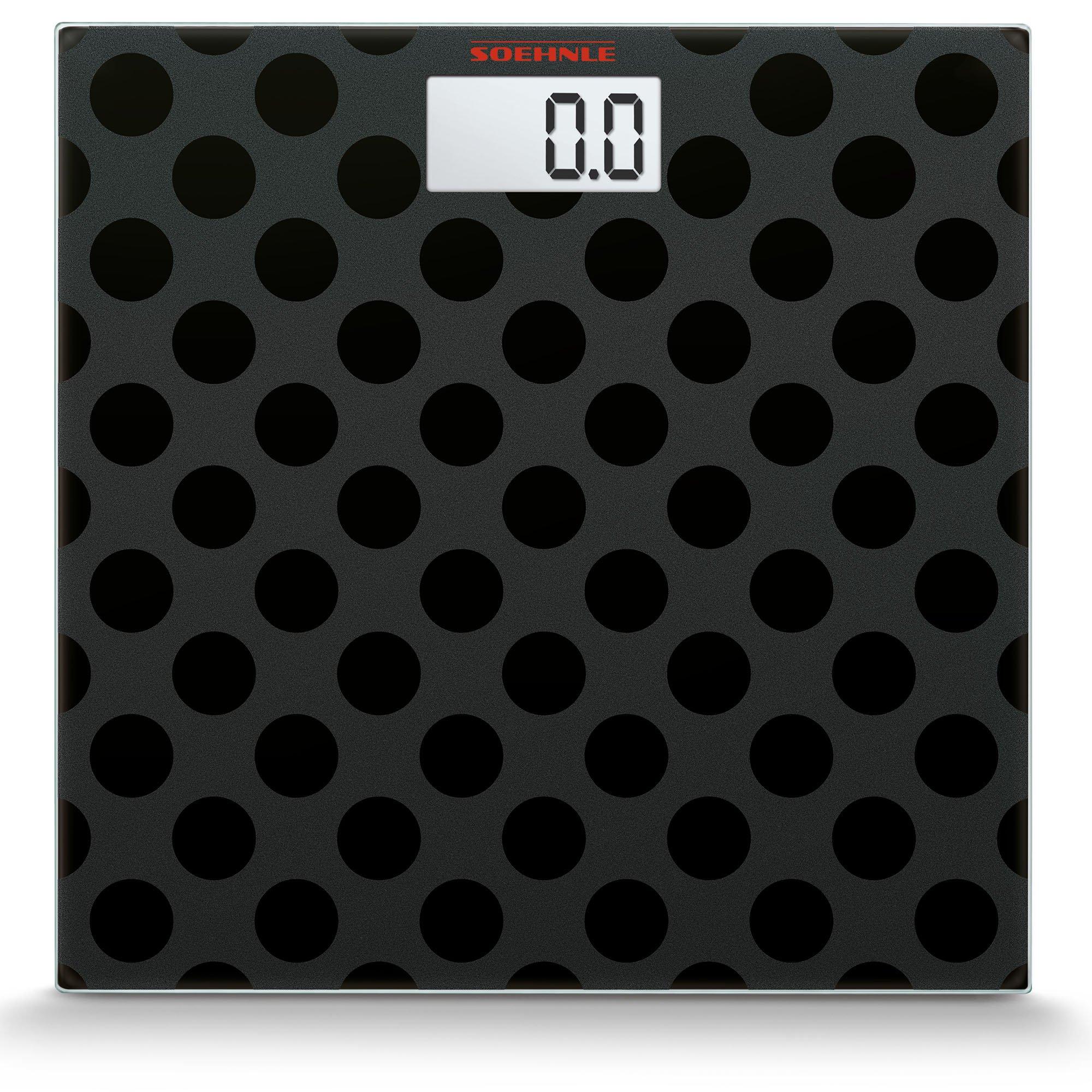 Soehnle Maya Digital black Edition Personal Glass Bathroom Scale, Circles by Soehnle (Image #2)