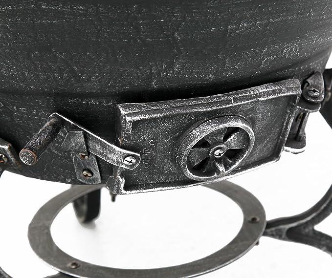 Chimenea Tepro Jacksonville 52 cm, 52 cm, 140 cm, Negro, Gris