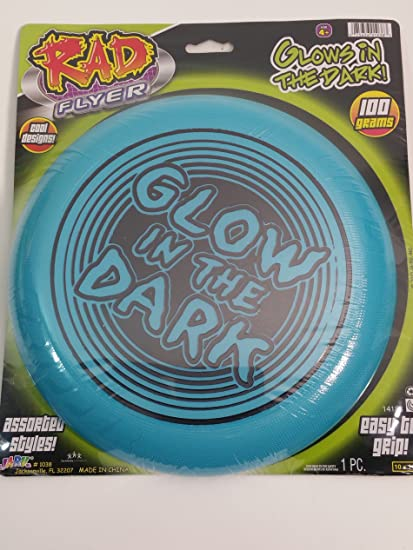 Rad Flyer Glow In The Dark Blue Frisbee With Words