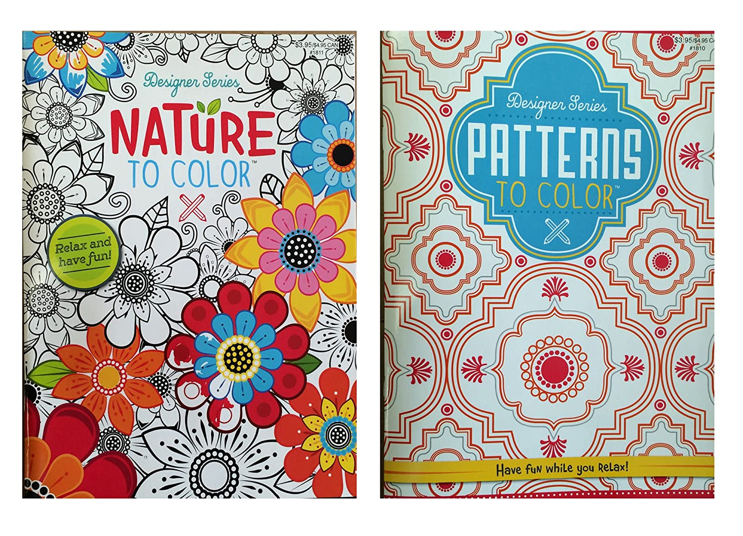 Amazon.com: Designer Series Patterns To Color & Nature To Color ...