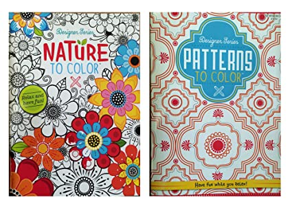 Kappa books publishers llc designer series patterns to color nature to color adult coloring