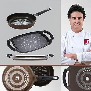 Bergner Sacher: Juego de útiles de Cocina: Sartén 20 y Grill 36 cms.: Amazon.es: Hogar