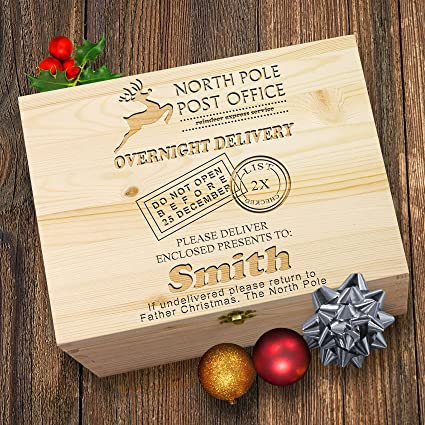 personalised north pole postal service christmas eve treat box - Post Office Open On Christmas Eve