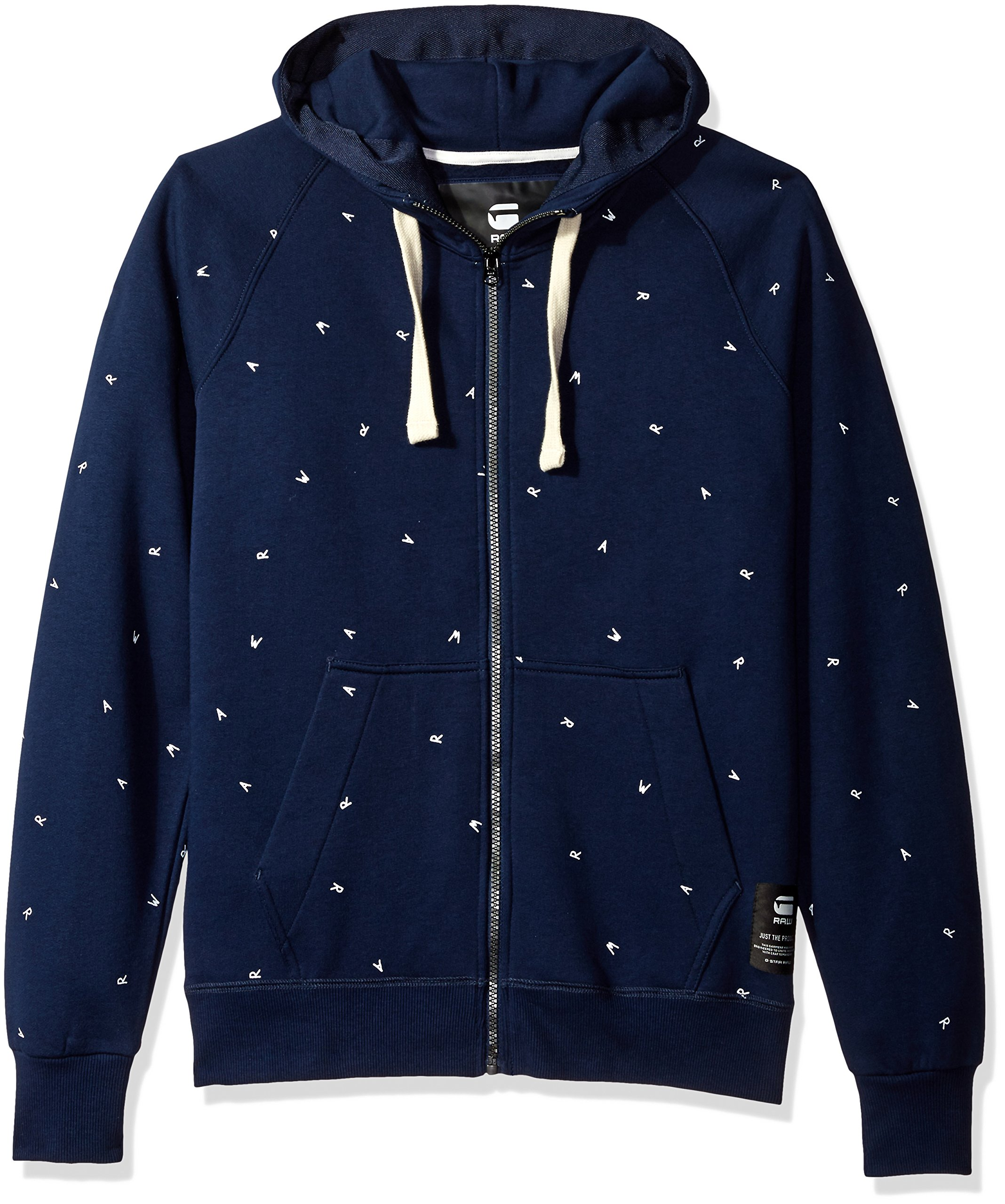 dafe6289bc6 Galleon - G-Star Raw Men's Manes Raglan Zip All Over Scribble Long Sleeve  Hoody, PoliceBlue, Large