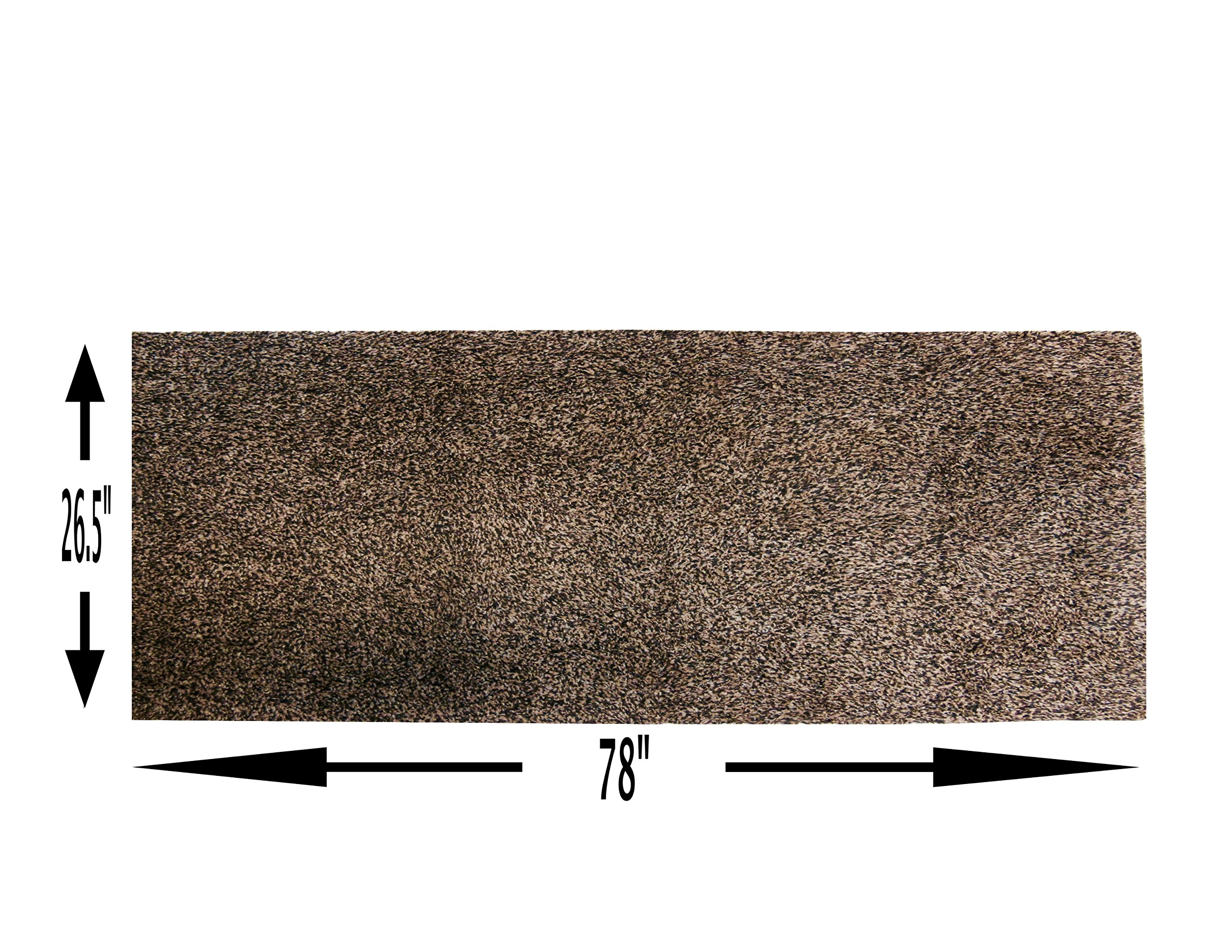 One Step Mud Mat Original Made in England 26.5W x 78L Runner (Brown) Indoor Floor Mat with Non Slip Backing Traps Mud and Dirt Perfect for Pets Excellent for High Traffic Areas by ONE STEP MUD MAT STOPS DIRT AND WATER IN ITS TRACKS! (Image #2)