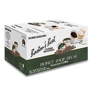 Boston's Best Coffee Roasters - Donut Shop Blend Decaf - Medium Roast 100% Arabica Coffee - 80 Single Serve Keurig-Compatible K-Cup Pods
