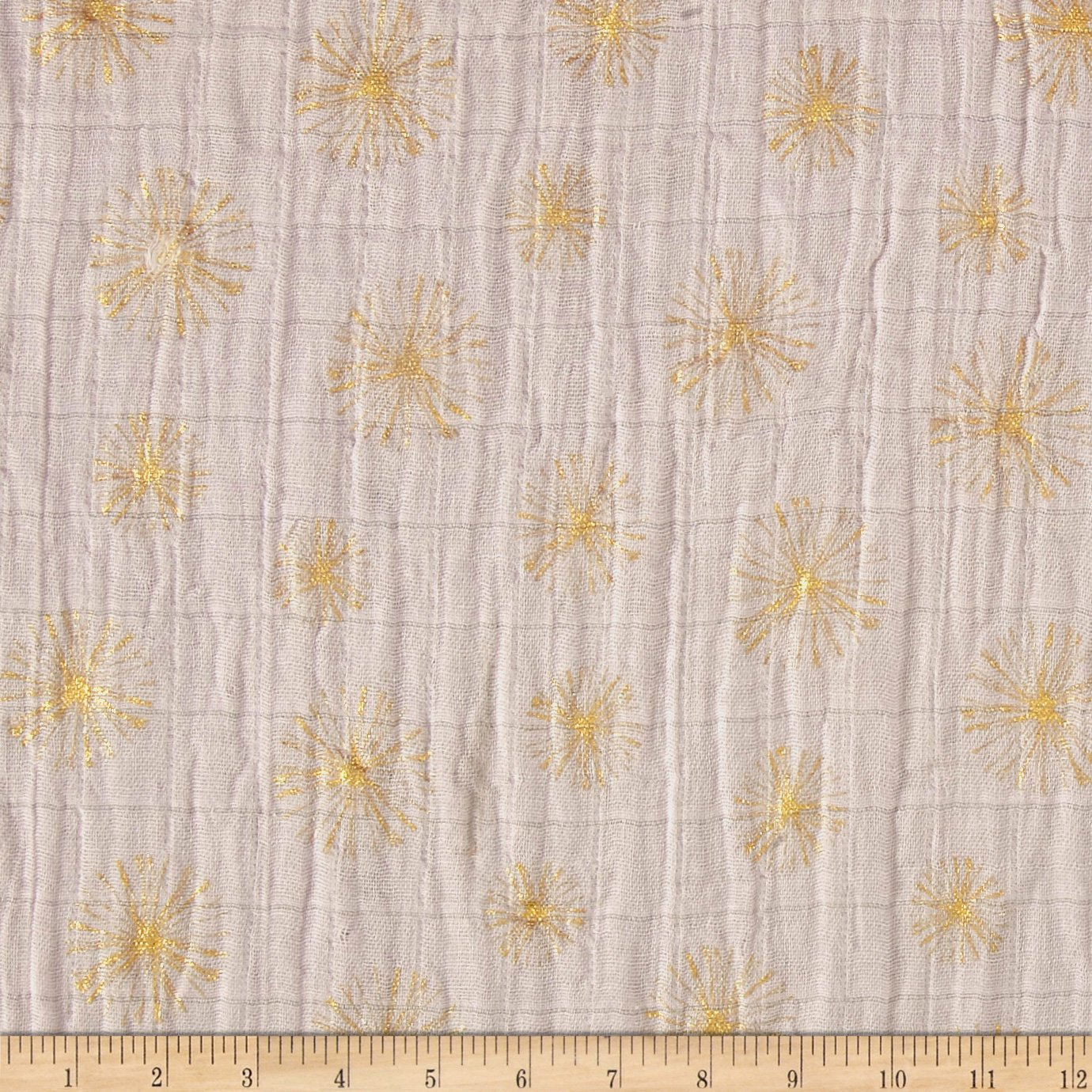 YELLOW Printed MUSLIN Double Gauze Cotton Fabric Cloth MOUSE