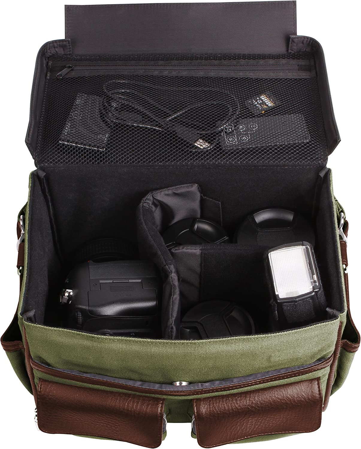 Lencca Forest Espresso Camera Messenger Bag for Nikon Digital Compact//Premium Compact Cameras