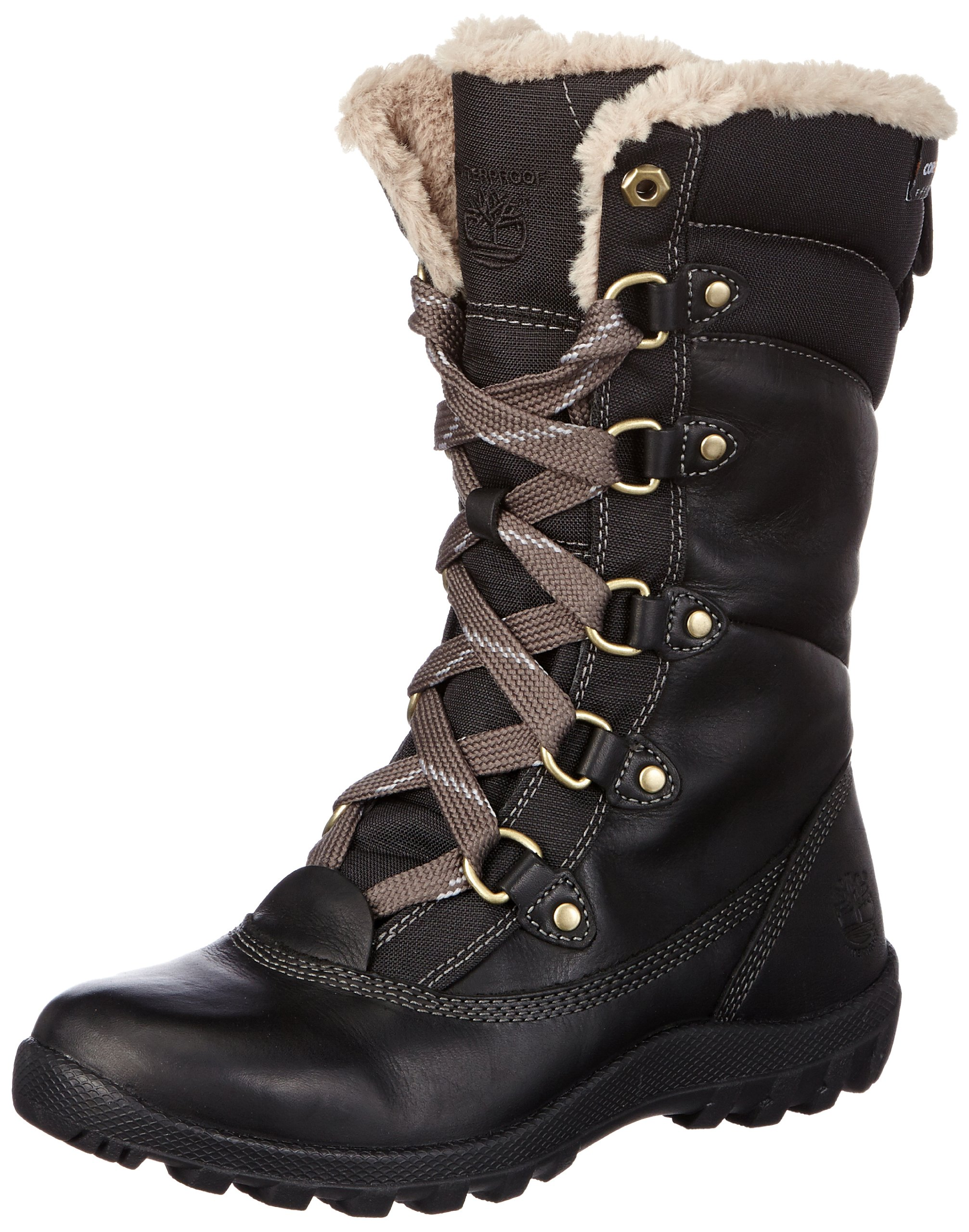 Timberland Women's MT Hope Mid L/F WP Boot,Black,8 M US