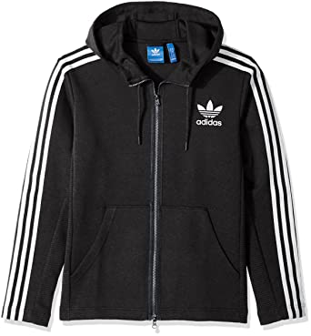 f09f70eb5ab adidas Originals Men's Outerwear Curated Full Zip Jacket, Black Melange,  Small