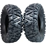"""Two 26x11-12 KT MASSFX big TIRE SET two ATV TIRES SIX PLY 26"""" horn"""