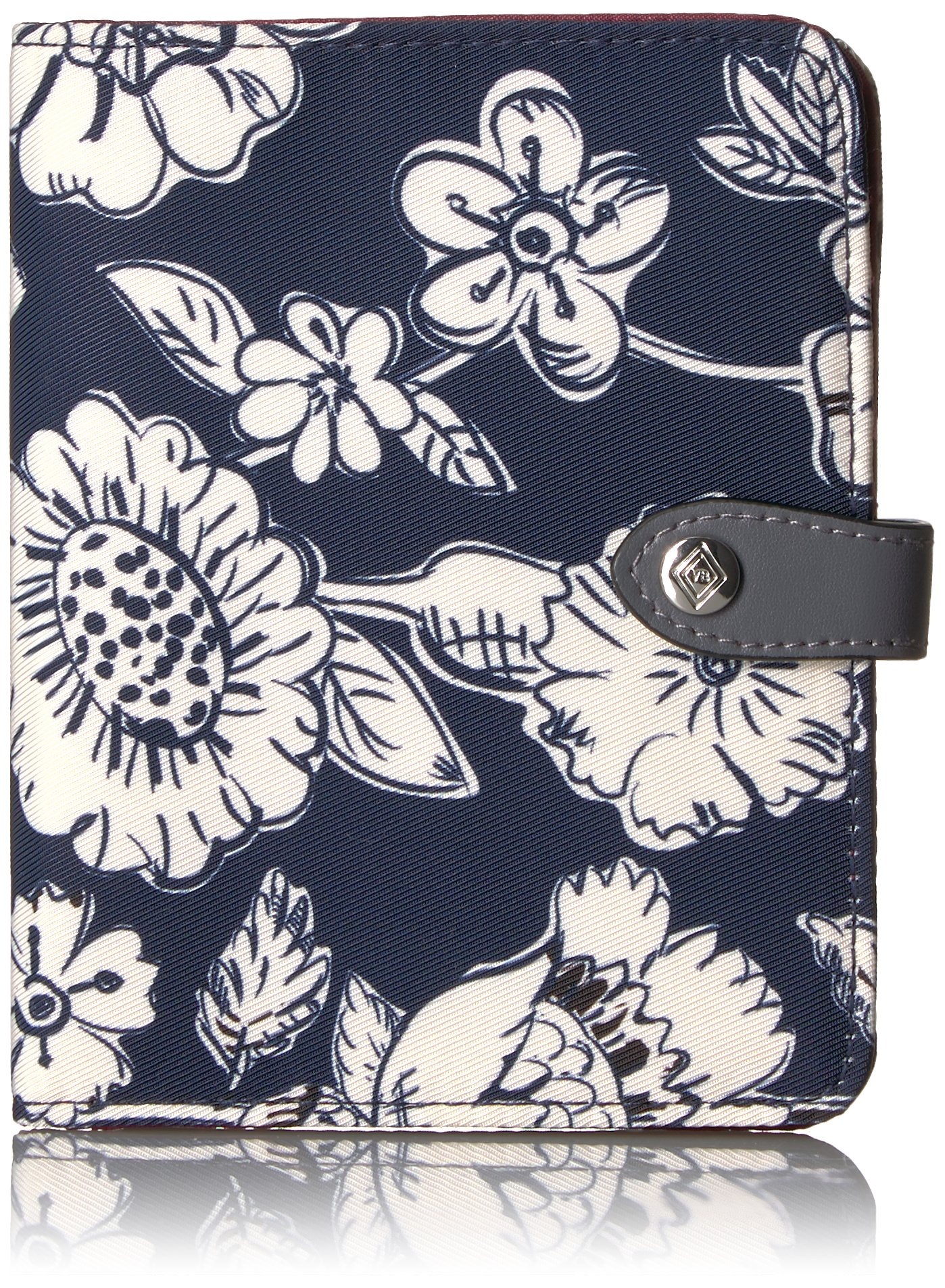 Vera Bradley Women's Midtown RFID Passport Wallet, Midnight Floral, One Size by Vera Bradley