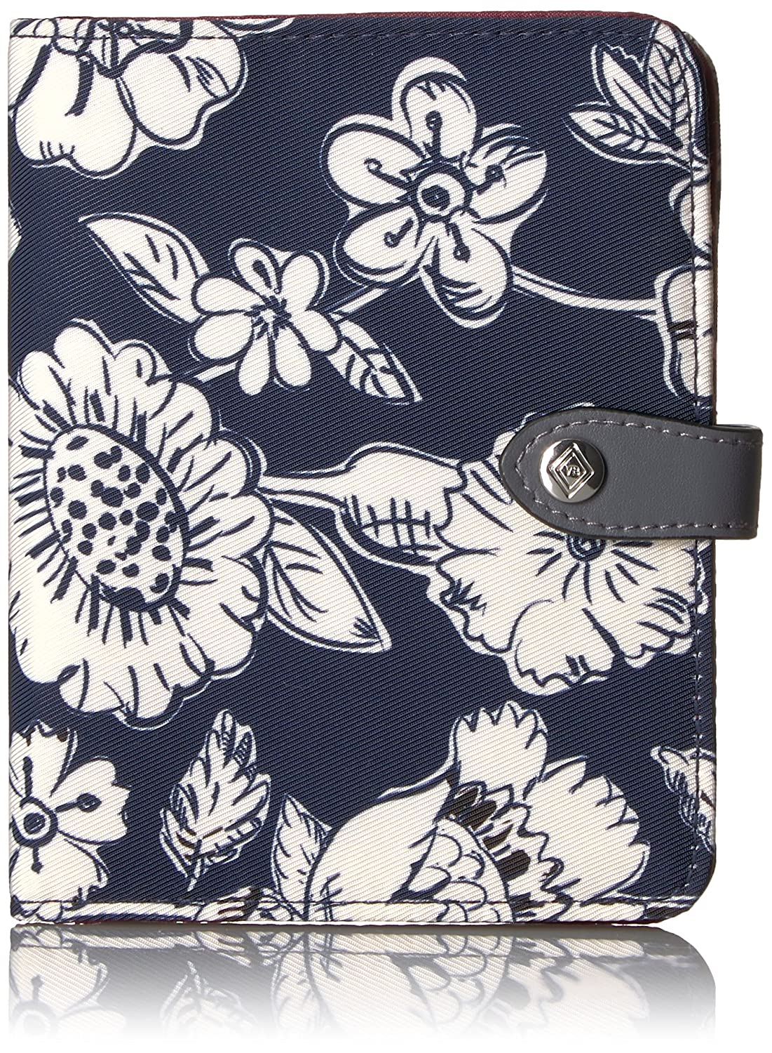 Vera Bradley Women's Midtown RFID Passport Wallet, Midnight Floral, One Size 22548
