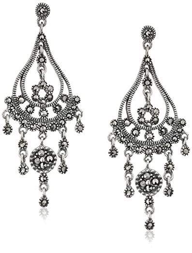 Amazon sterling silver marcasite vintage chandelier dangle sterling silver marcasite vintage chandelier dangle earrings aloadofball Image collections