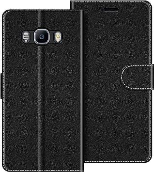 COODIO Funda Samsung Galaxy J5 2016 con Tapa, Funda Movil Samsung J5 2016, Funda Libro Galaxy J5 2016 Carcasa Magnético Funda para Samsung Galaxy J5 2016, Negro: Amazon.es: Electrónica