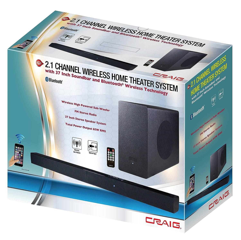 Craig Wireless Speaker Bar Trusted Wiring Diagram Radio Amazon Com Electronics Cht978 2 1 Channel Home Ilive