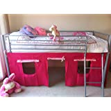 UNDER BED PINK TENT ONLY, SUITABLE FOR MID SLEEPER, CABIN BED, FUN & COLOURFUL